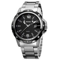 ซื้อ Wholesale Skone 2473 Men Watch นาฬิกาข้อมือ Date Steel Band Silver Watch นาฬิกาข้อมือ Es Hour Quartz Fashion Casual Dress Business Wristwatch นาฬิกาข้อมือ Clock Male Skone
