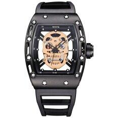 ซื้อ Wholesale Skone 3987 Skeleton Totem Unique Male Watch นาฬิกาข้อมือ Stylish Punk Style Silicone Watch นาฬิกาข้อมือ Wrist Hollow Transparent Alloy Quartz Watch นาฬิกาข้อมือ Relojes ใน จีน