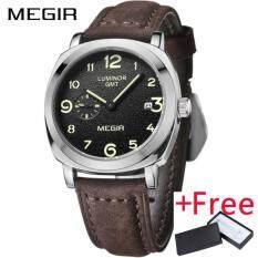 ขาย Wholesaler Megir Ml1046G Brand Business Watch นาฬิกาข้อมือ Fashion Luxury Leather Men Quartz Watch นาฬิกาข้อมือ Es Military Wristwatch นาฬิกาข้อมือ ออนไลน์ จีน