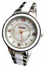 ขาย Wilon นาฬิกาข้อมือผู้หญิง สีขาว สายสแตนเลส รุ่น Wl 1079 ใหม่