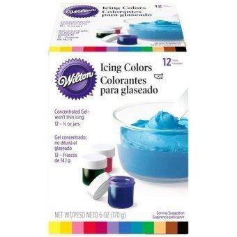 Wilton สีผสมอาหาร601-5580 12 Icing Colors Kit 0.5 oz. (แพ็ค 2 กล่อง)