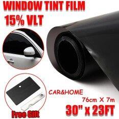 Window Tint Film Black Commercial Car Truck Auto House Glass 76Cm X 7M Vlt 15 Intl เป็นต้นฉบับ