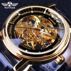ขาย Winner 2017 Professional Series Transparent Golden Case Diamond Display Gear Skeleton Mens Top Brand Luxury Mechanical Watches Intl จีน
