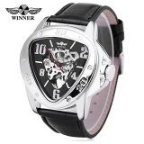 ราคา Winner 516 Male Auto Mechanical Watch Triangle Dial Leather Band Men Wristwatch Intl Winner ออนไลน์