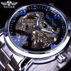 ราคา Winner Blue Ocean Fashion Casual Designer Stainless Steel Men Skeleton Watch Mens Watches Top Brand Luxury Automatic Watch Clock Intl Winner ออนไลน์