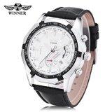 Winner F120535 Men Auto Mechanical Watch Calendar Luminous Wristwatch Intl ใหม่ล่าสุด