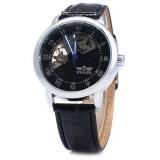 ราคา Winner W032 Men Fan Shaped Hollow Mechanical Watch With Leather Band Arabic Roman Numeral Scales Intl ที่สุด