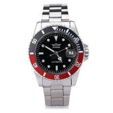 ราคา ผู้ชนะ W042602 ชายอัตโนมัตินาฬิกาวันที่แสดงส่องสว่างฝาหลังปกคลุม Winner Thailand