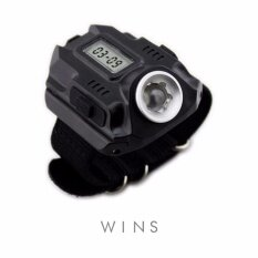 ขาย Wins นาฬิกาข้อมือไฟฉาย Led กันน้ำ Tactical รุ่น Al Tfw สีดำ Wins ถูก
