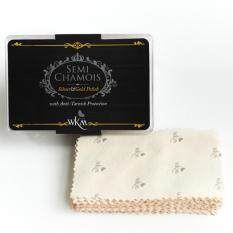 WKM ผ้าเช็ดเงินและทอง ชนิดนุ่มพิเศษ Size Card (พร้อมตัวเคลือบป้องกันคราบหมองดำ)