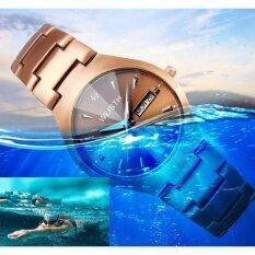 ขาย ซื้อ Wlisth ผู้หญิงนาฬิกากาแฟทองส่องสว่างคู่สายพานเหล็กนาฬิกาผู้หญิงนาฬิกาควอตซ์หญิงนาฬิกา นานาชาติ จีน