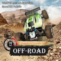 ซื้อ Wltoys A959 B 4Wd Off Road Vehicle 2 4G 540 Brushed Motor Rc Car Green ใน จีน