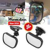 ราคา Womdee Baby Car Mirror Rear Facing View Infant Toddler In Back Seat Shatter Proof Safety New Sucktion Cup On Windshield Or Clip On Car Sun Visor Intl ที่สุด