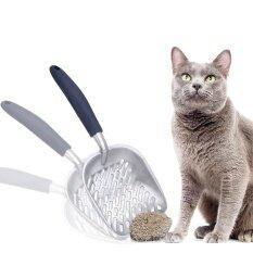 Womdee ตักเศษแมว-ออกแบบโดยเจ้าของแมว-Sifter กับลึก Shovel-ตักเศษโลหะที่แข็งแรงแมว -ตักขยะสแตนเลสกับจับยาว-นานาชาติ By The Elves.
