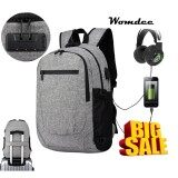 Womdee Laptop Backpack 17 Inch For Men Women Business Computer Bag Water Repellent Anti Theft College Sch**L Travel Backpacks With Usb Charging Headphone Port Card Sunglasses Holder Black Intl ถูก