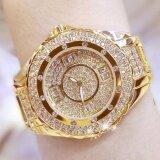 ราคา Women G*rl Student Fashion Luxury Stainless Steel Rhinestone Diamond Digital Watch 0917 Gold Intl ใหม่