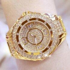 ขาย Women G*rl Student Fashion Luxury Stainless Steel Rhinestone Diamond Digital Watch 0917 Gold Intl ถูก ใน จีน