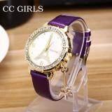 ขาย ผู้หญิงสุภาพสตรีดูหอไอเฟลปารีส Vintage นาฬิกาข้อมือหนังนักเรียนหญิงชุด จีน