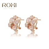 ขาย Women Luxury Korean Rose Gold Personalized Diamond Petals Earrings Selling Trend Creative Style Clip Earrings Retro Jewelry Simple Zircon Earrings Genuine Crystal Ornaments Fashion Classic Wedding Engagement Earrings Top Quality Gift Jewelry Intl ใน จีน