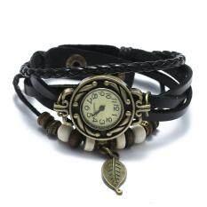 ส่วนลด Women Quartz Bracelet Wrist Watch Leather Band Leaf Decoration Retro New Design Unbranded Generic Thailand