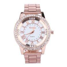 Women Stainless Steel Crystal Analog Quartz Dial Wrist Watch (rose Gold) - Intl.