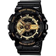 Wonderful Story  S Sport นาฬิกาข้อมือ ใส่ได้ทั้งชายและหญิง กันน้ำได้-Sp024 (black/gold).