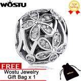 ซื้อ Wostu Gift Dazzling Sculptural Dazzling Daisy Meadow Clear Cz Flower Charm Fit Bracelet 925 Sterling Silver Jewelry Making Zbbs031 Wostu เป็นต้นฉบับ