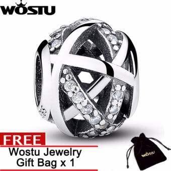WOSTU การจัดส่งสินค้าฟรี  Original Charm Fit Bracelet 925 Sterling Silver Bead Galaxy Openwork With -