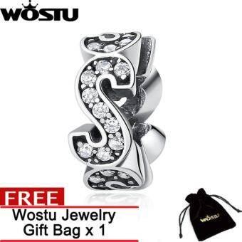 WOSTU การจัดส่งสินค้าฟรี  การออกแบบเดิม 925 เงินสเตอร์ลิง Spacer