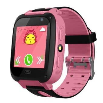 WSmall Touch Screen Kids Safety Call Smart Watch With Flashlight (Pink) - intl
