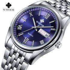ส่วนลด Wwoor 8802 Men Watches Top Brand Luxury Day Date Stainless Steel Band Luminous Clock Male Casual Quartz Watch Men Sport Wristwatch Intl Wwoor จีน