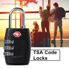 ส่วนลด Xcsource Tsa Security กุญแจล็อครหัส 3 หลัก สีดำ Xcsource