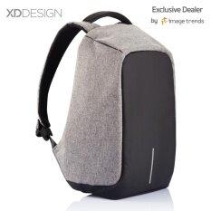 ขาย Xd Design กระเป๋าเป้นิรภัยแล็ปท็อป Bobby Bag สีเทา Xd Design เป็นต้นฉบับ