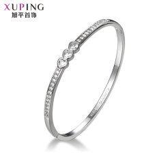 ขาย Xuping Jewelry สร้อยข้อมือที่เรียบง่ายสร้อยข้อมือหญิงเพทายสังเคราะห์ ราคาถูกที่สุด