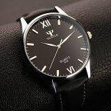 ขาย ซื้อ Yazole คนธุรกิจนาฬิกาข้อมือหนังควอทซ์ สีดำ ใน จีน