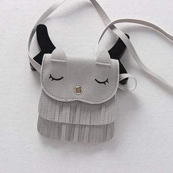 YBC น่ารักเด็กหญิงขนาดเล็ก Cat Messenger กระเป๋าสะพายไหล่ - INTL