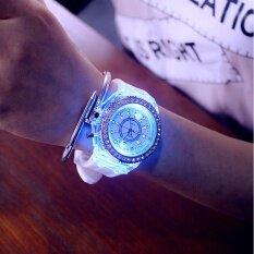 Ybc ผู้หญิงเรืองแสง Led นาฬิกาแฟชั่นเพชรซิลิโคนเจล Unbranded Generic ถูก ใน Thailand
