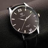 Ybc ผู้ชายธุรกิจนาฬิกาควอตซ์นาฬิกาข้อมือหนังกันน้ำหนังเทียมดำ นานาชาติ ใน จีน