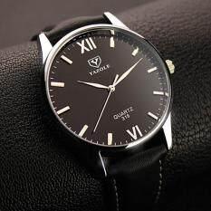 ราคา Ybc ผู้ชายธุรกิจนาฬิกาควอตซ์นาฬิกาข้อมือหนังกันน้ำหนังเทียมดำ นานาชาติ Unbranded Generic