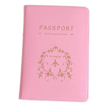 ซื้อที่ไหน Yingwei Fashion World Trip Passport Holder ID Holder Pink