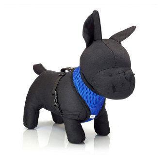 YingWei Pet Puppy Dog Fashion Safety Adjustable Harness Easy Control Mesh Vest Leash Chest Straps Belt BlueS