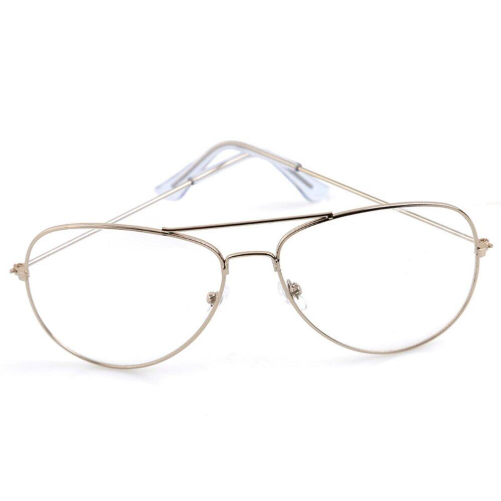 YingWei Retro male and female round box flat mirror with glasses frame trendsetter thin rimmed glasses frame Gold - intl