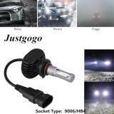 ราคา Justgogo 2Pcs Car Led Headlight Fog Light Drl Lamp 50W 6500K Bulbs 9V 32V 9006 Hb4 Socket ออนไลน์ จีน