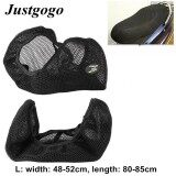 ขาย Justgogo Motorcycle Seat Cover ,3D Breathable Net Cushion Protector Mat Black Size L Unbranded Generic ถูก
