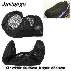 Justgogo Motorcycle Seat Cover ,3D Breathable Net Cushion Protector Mat Black Size Xl ใหม่ล่าสุด