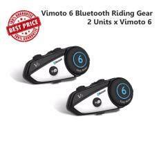 โปรโมชั่น Yoyocam 2 Units บูลทูธติดหมวกกันน็อค ภาษาอังกฤษ Vimoto V6 Helmet Bluetooth Headset Microphone Intercom English Voice Vimoto