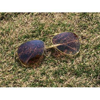 3026 CLASSIC แว่นกันแดดทรงนักบินน้ำมีสี银片แผ่นสะท้อนแสง SUN แว่นตาเท่แว่นตา