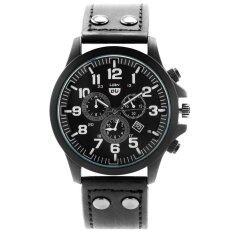 โปรโมชั่น Zazzy Dolls นาฬิกาข้อมือผู้ชาย หน้าปัดดีไซน์เท่ห์ ดูเวลาง่าย สไตล์N Navy สายหนังสีดำ รุ่น Zd 0100 สีดำ Black Zazzy Dolls ใหม่ล่าสุด