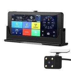 ราคา ราคาถูกที่สุด Zeepin 682 3G Rearview Mirror Dash Cam Android Wifi Gps Bluetooth Hands Free Car Driving Recorder Intl