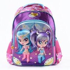 ซื้อ Ziyan Baby Girls Schoolbag Cute Cartoon Minion Trolley Backpack Kids Printing Backpack Waterproof Printing Sch**l Bags16Inch Intl ใหม่